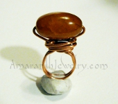 Original Handcrafted Rings - Dragon Veins Agate Copper Ring