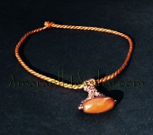 Original Handmade Necklaces - Dragon Veins Agate Beaded Pendant Necklace