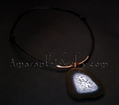 Men's Leather Necklace with Agate Slice