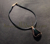 Beautiful Rainbow Obsidian Leather Necklace