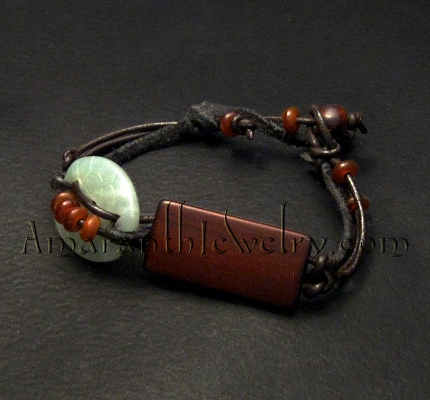 Handcrafted Men S Bracelet Serpentine Wood And Horn